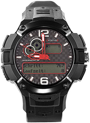 simvalley MOBILE multisportuhr: GPS-Multi-Sportuhr MOT-15.G mit SIM-Slot, Militärstandard (GPS Uhren)