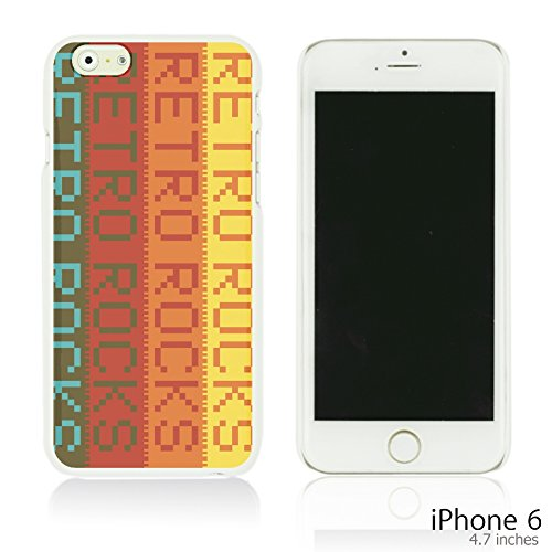 OBiDi - Typography Pattern Hard Back Case / Housse pour Apple iPhone 6 / 6S (4.7 inch)Smartphone - Life Is Retro Rocks