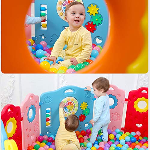 LIUFS-Playpens Increase Thickening And Heightening Children's Playpen Safety Parent-child Fun Indoor And Outdoor Playground Toy Fence (Size : 16+2 fences)  LIUFS-Playpens