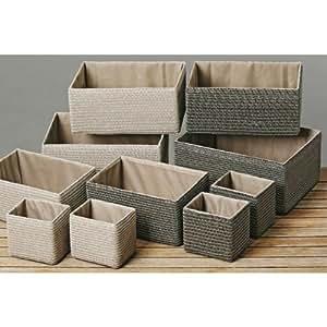 korb a stroh stroh korb m stoff beige gr 1 k che haushalt. Black Bedroom Furniture Sets. Home Design Ideas