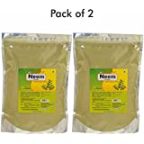 Herbal Hills Neem Patra Powder - 1 Kg Powder Pack Of 2 Pure Natural Neem Leaves Powder Azadirachta Indica, Skin...