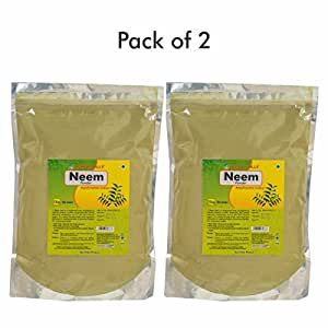 Herbal Hills Neem patra powder - 1 kg powder Pack of 2 Pure Natural Neem leaves powder azadirachta indica, Skin and Blood Purifier