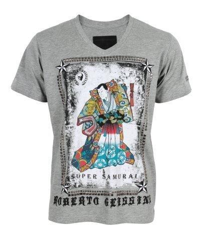 Roberto Geissini Samurai t-shirt man Grey