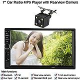 """KKmoon 7"""" Reproductor Multimedia MP5 HD Pantalla Táctil 2 Din HD Bluetooth Radio FM USB/TF Aux Entrada para Coche Auto con Cámara de Visión Trasera"""