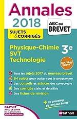 Annales ABC du Brevet Physique-Chimie SVT Techno 2018 de Philippe Mayer