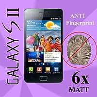 Set von 6Displayschutzfolien für Samsung i9100Galaxy S2transparen matt