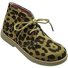 Niña Infantil Estampado Animal Leopardo Fiesta Botines De Moda Zapato Tallas de 6A 12