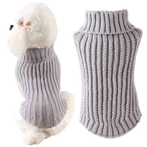 HelloCreate Haustier Pullover Hund Katze Strick Rollkragenpullover Mantel Welpe Winterkleidung
