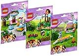 Lego Friends Serie 2 - 41020 Igelversteck + 41021 Pudelhäuschen + 41022 Kaninchenstall