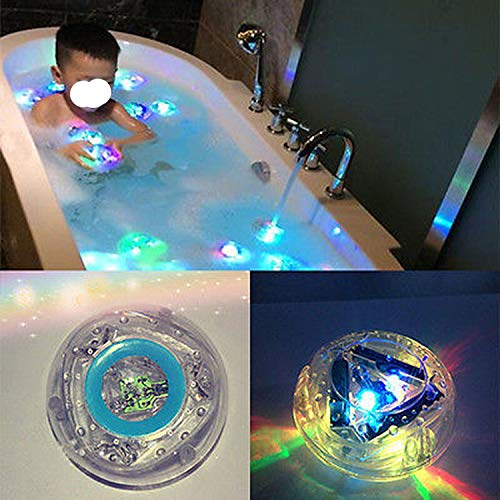 PENVEAT 1PCS bath light led light toy Party in the Tub Toy Bath Water LED Light Kids Waterproof children funny time