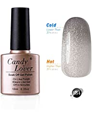 Candy Lover 10mL Soak Off LED Gel Nagellack Thermo Color Changing Gel Chameleon Shellac Polish Nagellack Farbe #184