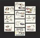 Grand Prix-Größen–Ayrton Senna, Gilles Villeneuve, Jochen Rindt, John Surtees, Jim Clark, Graham Hill, Stirling Moss, Mike Hawthorn, Juan Manuel Fangio–Sammler Karten