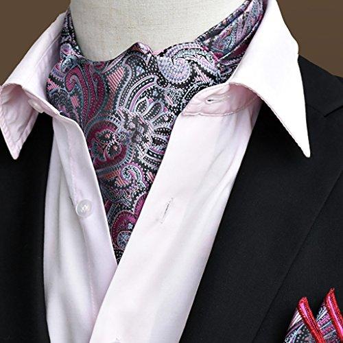 QIANGDA Seidentuch Männer Halstuch Halstuch Hemdkragen Business-Schal, 50,4 * 6,3 Zoll, 22 Schnitte Optional (Farbe : 3#)