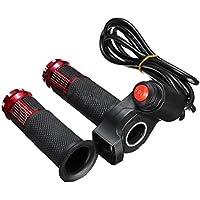 TOOGOO 24V 36V 48V 3 Velocidades Scooter Electrico Grip Handlebar LED Medidor Digital, Rojo