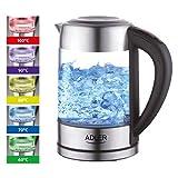 Der Wasserkocher der Marke Adler mit Temperaturregelung ermöglicht sowohl das Wasserkochen als auch Aufwärmen im Bereich von 60 bis 100 Grad, was bei der Zubereitung von Kräuteraufgüssen, beim Aufbrühen von verschiedenen Teesorten und in anderen Situ...