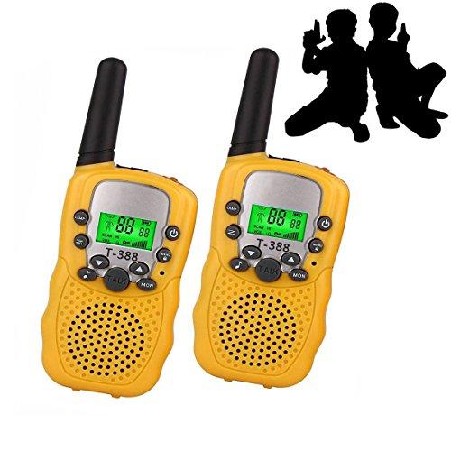 (JRD&BS WINL Outdoor-Spielzeug Für Jungen 6-8 Jahre Alt Walkie Talkie Für Kinder Junge,3km Reichweite Zum Campen, Wanderausflug,Spielzeug des Spielzeugs des 8-10 Jährigen Jungen, 1 Paar(Gelb))