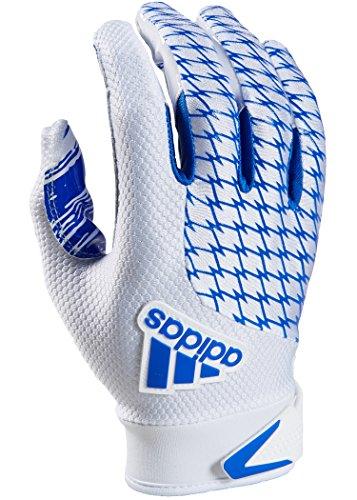 adidas adiFAST 2.0 Receiver American Football Handschuhe - weiß/royal Gr. M