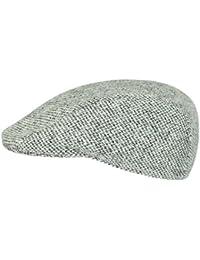 Rassow Macario Flatcap Schirmmütze aus Schurwolle - schwarz/weiss