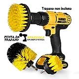 """StillCool Spazzola per Trapano, Confezione da 3 Drill Brush 2"""" 3.5"""" 4"""" Power Scrubber per la Pulizia Toilette Cucina Bagno Doccia Piastrelle Lavello Auto"""