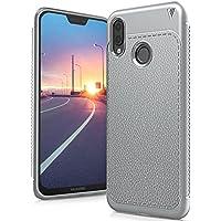 Huawei P20 Lite Funda, FindaGift TPU Suave Ultra Delgado [Inastillable][A prueba de choques][Protección completa] Bumper A prueba de huellas Back Cover con base antideslizante para Huawei P20 Lite (Gris)