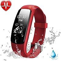 Fitness Armband HR Lintelek Aktivitätstracker fitness tracker Herzfrequenzmessung IP67 Wasserdicht Smart Bracelet Smartwatch Fitness-Uhr Schlaftracker Kalorienzähler für Android und iOS
