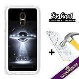BeCool - Coque Etui Housse en ZTE Nubia N1 Lite, [ +1 Protecteur Verre Trempé ] Silicone TPU, protège et s'adapte a la perfection a ton Smartphone. OVNI.