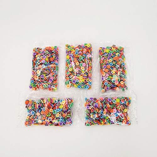 LoveOlvido 1000 Teile/Satz Verschiedene Schleim Scheiben DIY Handwerk Dekorationen Obst Scheiben Schleim Machen Lieferungen für Weichen Ton & Nail Art - Multicolor -