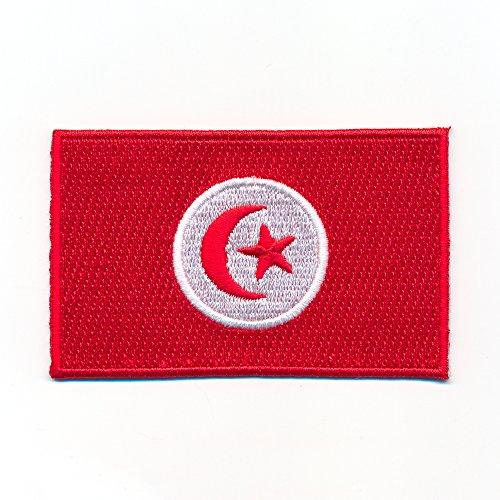80 x 50 mm Tunesien Afrika Tunis Djerba Flagge Flag Aufnäher Aufbügler 1020 X