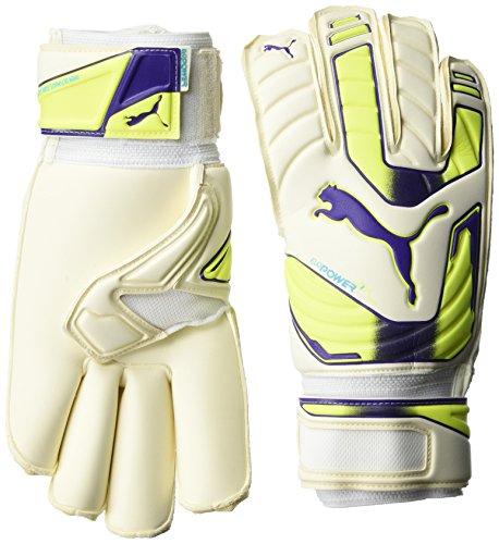 PUMA Handschuhe Evopower Grip 2 GC White-Fluro Yellow-Prism Violet 11