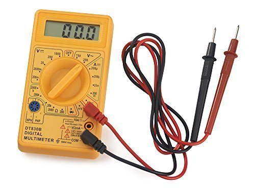 General Purpose AC/DC Hand-held Digital Multimeter with Diode Transistor Test Function | Max Reading 1999 by Neiko General Purpose Diode