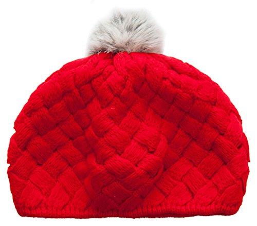 Kinder Herbst-Winter-Hut-warmer Hut Modisch gestrickter Hut, Rot