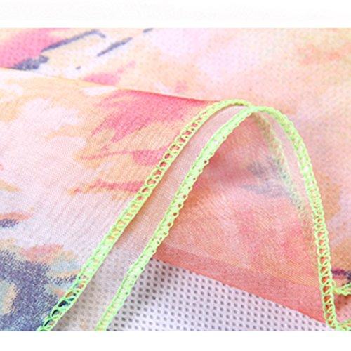 Copricostumi e Parei - BienBien Copricostume Sciarpa Taglie Grandi Bikini Cover Up Chiffon Sarong Vestito Nuotata Regalo per Donne Ragazze Patern 10