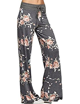 ShopINess Pantaloni casual da donna stile floreale