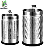 PARASNATH Perforated Open Dustbin (Stainless Steel,Silver) (Set of 2)