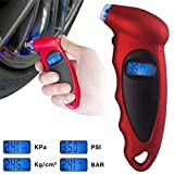 Techtest Digital Tire Pressure Gauge Meter Bicycle Bike Car Diagnostic Tool 0-150 PSI Backlight LCD Air Tester Tyre for Check Monitor Accurate Checker 150 Psi Monitoring System