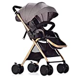 Best Baby Strollers - Baby Strollers Lightweight Folding Sit-Back Children's Stroller (Gray) Review
