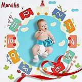 Baby Monatliche Decke Monats Meilenstein Decke Foto Hintergrund Decke | ideal babyparty geschenk | Weihnachten Babydecke Geschenk 120 x 120 cm voor pasgeborenen