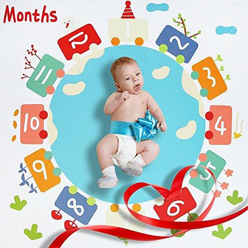 Manta mensual manta Milestone Blanket manta bebés
