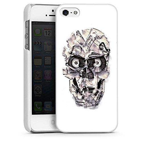 Apple iPhone 6 Housse Étui Silicone Coque Protection Crâne Tête de mort Crâne CasDur blanc