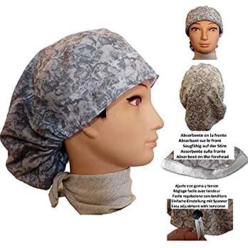 OP-Haube frau GRAUES WASSER Für langes Haar Saugfähig auf der Stirn Mit Spanner und Gummi verstellbar