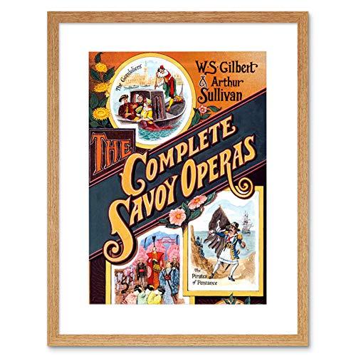 THEATRE SAVOY OPERAS SULLIVAN GILBERT COVER NEW FRAMED ART PRINT MOUNT B12X11285