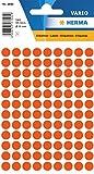 Herma 1842 Vielzwecketiketten, Dürchmesser 8 mm rund Papier, 540 Stück, rot/matt