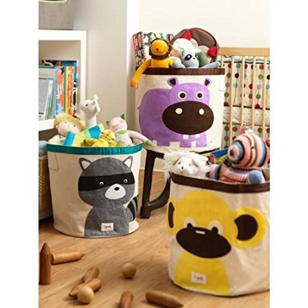 3 Sprouts - Coffre à jouets - Bac à jouets Singe