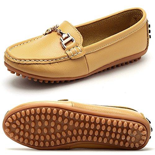 Odema Loafer scarpe mocassine senza tacco da donna Giallo