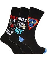 Herren Socken mit Comic-Aufschrift (3 Paar) (39-45 EU) (Design 4)