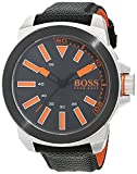 Hugo Boss Orange New York Herren-Armbanduhr Quartz mit Textil Armband  1513116