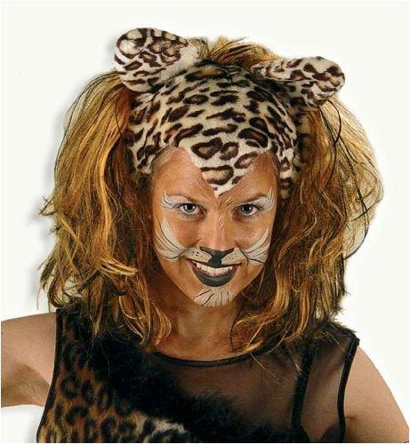 Perücke Katze Tiger Leopard Cats tiger/tizian Damen (Tier Maskerade Kostüm)