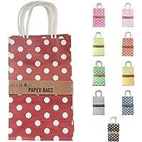 Confezione di 10 Twist Handle carta borse / regalo 21 * 13 * 8 cm - Rosso scuro
