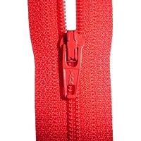 Estremità chiusa con ZIP YKK, colore: rosso, per cucire, ideali