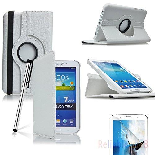 Samsung Galaxy Tab 3 7.0 17,78 cm billigen TOPGADGETSUK Buch und Standfunktion, inklusive: Displayschutzfolie (für Galaxy Tab 3 17,78 cm Zoll P3200/P3210, WiFi oder 3 G + WLAN), Galaxy Tab 2 17,78 cm Schutzhülle Bestseller von Verkäufer 360 WHITE